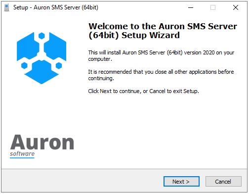 Auron SMS Server Installer - Introduction