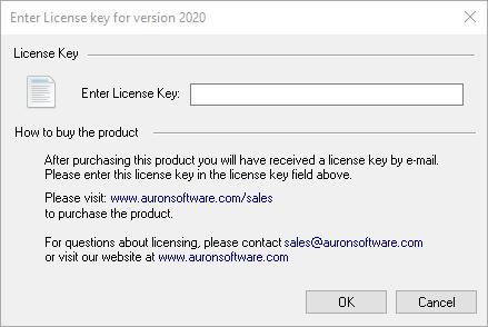License Dialog