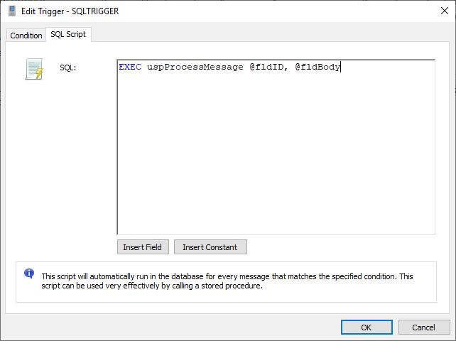 Edit trigger - SQL Script