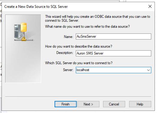 Enter ODBC connection details