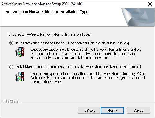 Network Monitor - Choose Setup