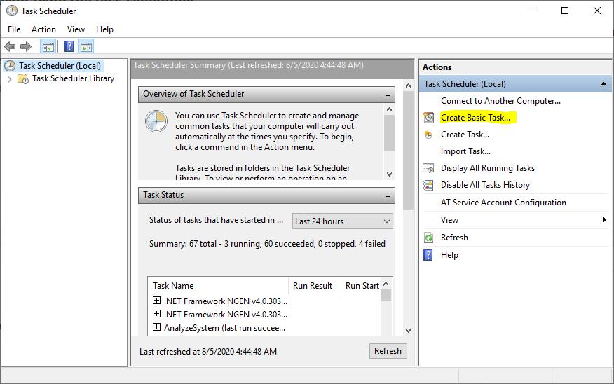 Windows task scheduler