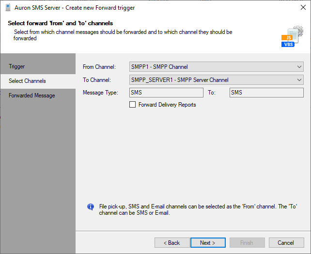 Forward from SMS Provider to sMPP Server