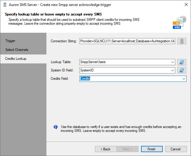 Create SMPP Server Acknowledge Trigger