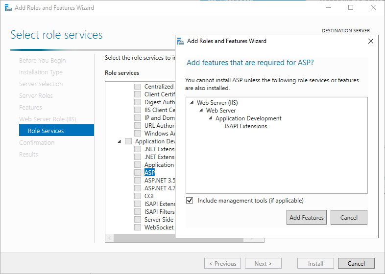 Enable Active Server Pages